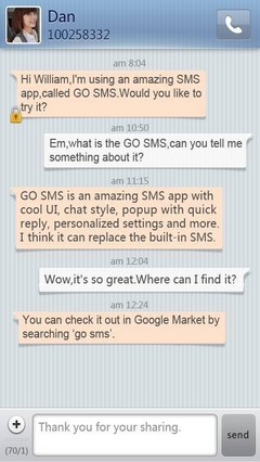 Simple Stripe GO SMS Theme 1.0