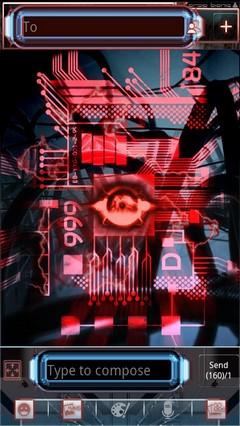 GO SMS Bionic theme