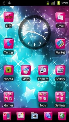 Pink Gloss GO Launcher Theme 6.0