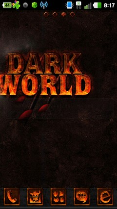 Darkworld GO LauncherEX Theme