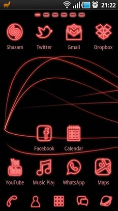 Red Light Theme GO Launcher