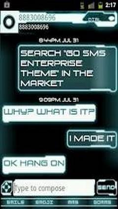 Go Sms Pro Legacy Glow Theme