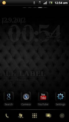 Black Label GO Launcher Theme 1.0