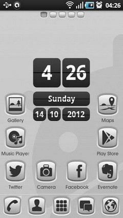 Grey Button GO Launcher Theme 1.0.1
