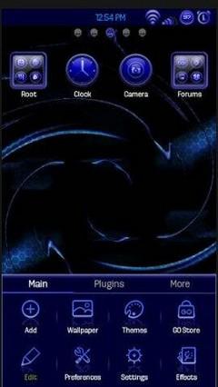 True Blue Theme Go Launcher v.1.4