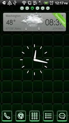 Go Launcher Green Magic Cube Theme