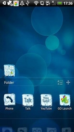 Go Launcher Heart Iced Theme