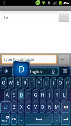 Go keyboard blue future theme
