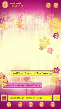 Pink Yellow Flower Go Sms Pro Theme