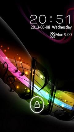 MUSIC NOTES LOCKER