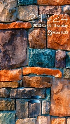 Colored Stone Wall Locker