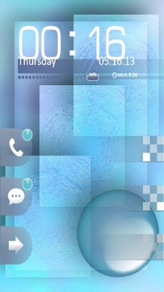 Abstract Blue Locker