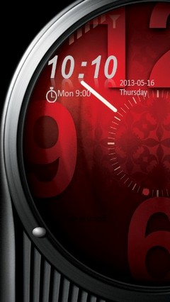 Red Clock Locker