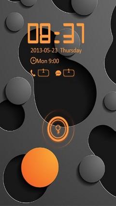 Black & Orange Locker