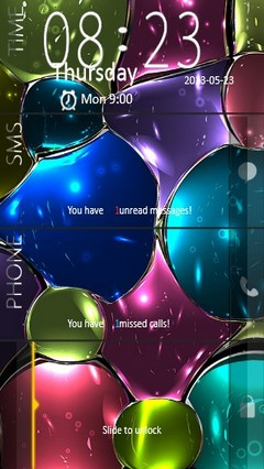Colorful Bubbles Locker
