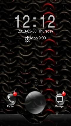 Black & Red Locker