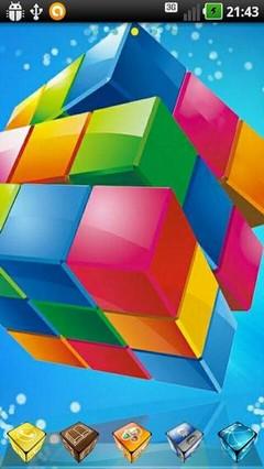 Colors Cube Go Launcher Theme