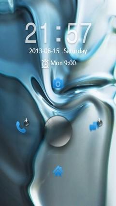 Abstract Blue Locker