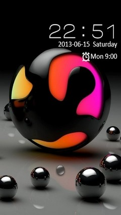 Colorful Sphere Locker