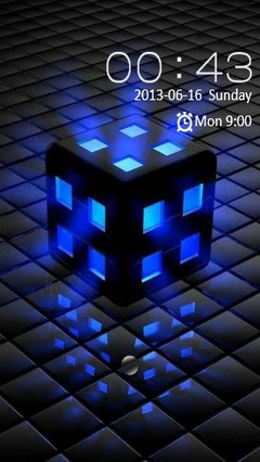 Glowing Blue Cube Locker