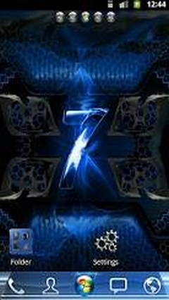 Windows 7 Blue Flame GO Launcher Theme