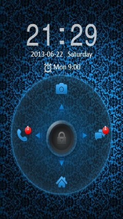 Abstract Blue Go Locker