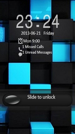 Black & Blue Cubes Locker