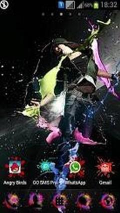 Color Splash Go Launcher Theme