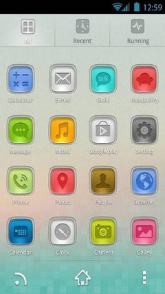 StainedGlass GO Launcher Theme