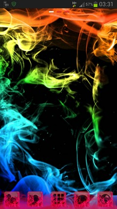 GOLauncher Theme rainbow smoke