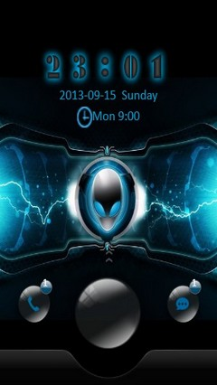 Blue Alienware Go Locker