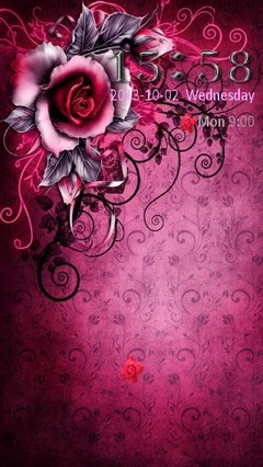 Rose Design Locker