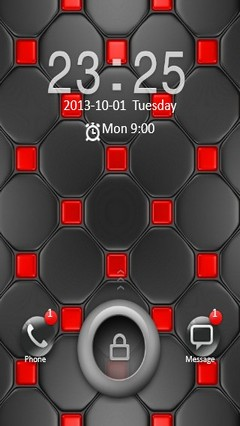 Black & Red Design Go Locker