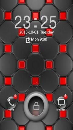 Black & Red Design Go Locker