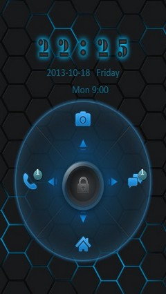 Blue Hexagon Go Locker