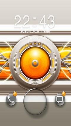 Orange Abstract Design Go Locker