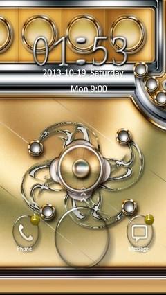 Gold & Silver Design Go Locker
