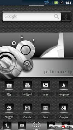 Platinum Edge Next Launcher Theme
