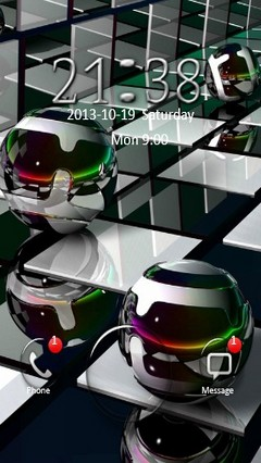 3D Chrome Orbs Go Locker