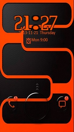 Orange & Black Go Locker