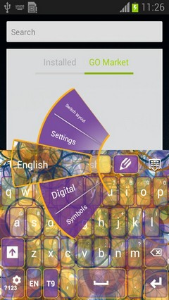 Abstract Circles Keyboard-release