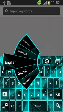 Neon Touch Keyboard