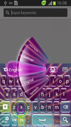Neon Sunburst Keyboard