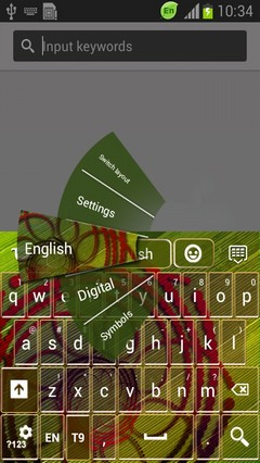 Abstract Flower Keyboard