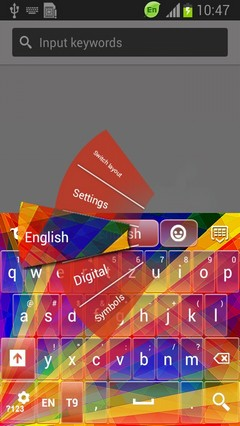 Abstract Rainbow Keyboard