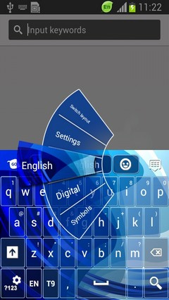 Blue Symphony Keyboard