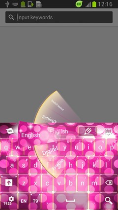 Pink Sparkle Keyboard