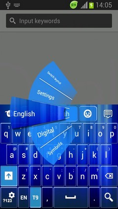 Abstract Waterfall Keyboard