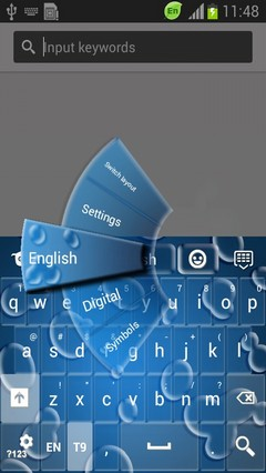 Aqua Clear Keyboard