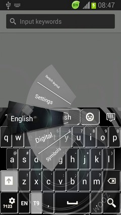 Keyboard for Samsung Galaxy S4 Zoom